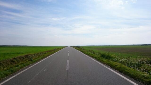 一直線の道
